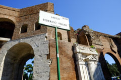 The medieval Muro Torto in Rome Royalty Free Stock Image