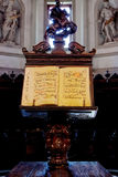Medieval Music manuscript lectern royalty free stock images