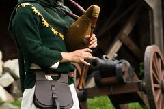 Medieval musical instrument. At the knight festival in Poland royalty free stock photos