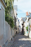 Medieval narrow street in Angers, France Stock Image