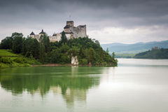 Medieval Niedzica Castle at Czorsztyn Lake Stock Images