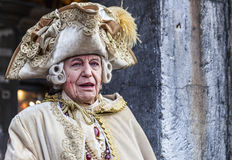 Medieval Nobleman - Venice Carnival 2014 royalty free stock photo