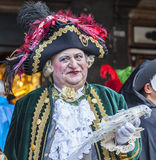 Medieval Nobleman - Venice Carnival 2014 royalty free stock photos
