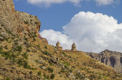 Medieval Noravank monastery complex in Amaghu valley Royalty Free Stock Image