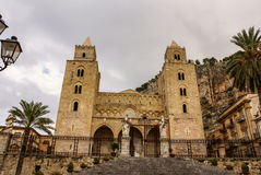 Medieval Norman Cathedral-Basilica of Cefalu,sicilia,italy Royalty Free Stock Photos