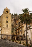 Medieval Norman Cathedral-Basilica of Cefalu,sicilia,italy Stock Photo