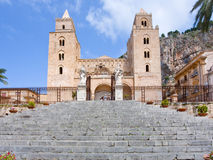 Medieval norman Cathedral in Cefalu, Sicily Royalty Free Stock Photos
