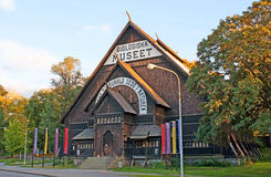 The medieval Norwegian architecture Stock Photo
