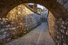 Medieval nucleus of Baeza, Andalusia. Baeza, Andalusia, Spain: Alley in the area of the Cathedral of Santa Maria stock photo