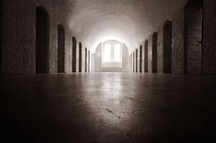 Medieval nunnery. Medieval interior of a nunnery in sweden stock images
