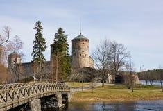 Medieval Olavinlinna castle in Savonlinna, Finland Stock Images