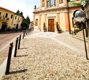 Medieval old architecture in italy europe milan religion       a Royalty Free Stock Photos