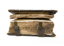 Medieval old book, psalter Stock Photos