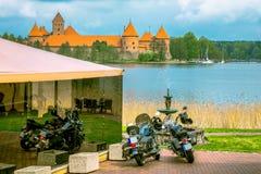 Medieval old castle in Trakai, Lithuania Stock Photos