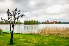 Medieval old castle in Trakai, Lithuania Royalty Free Stock Photos