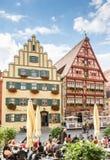 Medieval old town of Dinkelsbuehl Stock Photos