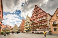 Medieval old town of Dinkelsbuehl Royalty Free Stock Images