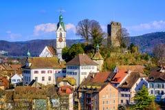 Medieval old town Laufenburg, Switzerland Royalty Free Stock Image