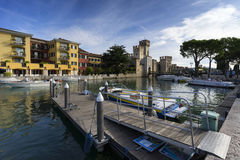 Medieval old town Sirmione Stock Image
