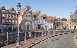 Medieval old town Stade with historical harbour in Germany Royalty Free Stock Photos