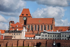 Medieval Old Town of Torun City Skyline Royalty Free Stock Images