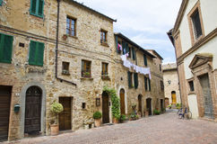 The medieval old town in Tuscany royalty free stock photo