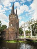 The medieval Oostpoort East gate in Delft royalty free stock photography
