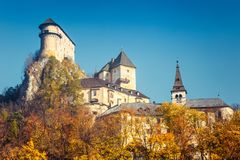 The medieval Orava Castle. stock photography