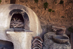 Medieval oven. Medieval bread oven inside a castle Royalty Free Stock Photos