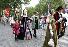 Medieval pageant in Brussels Stock Photos