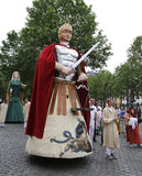 Medieval pageant in Brussels Royalty Free Stock Photography