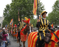 Medieval pageant in Brussels Stock Photo