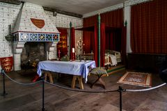 The medieval palace room of the Tower of London Stock Images