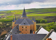 Medieval palace on surburb  of Segovia Stock Image
