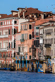Medieval palaces along the Grand Canal Stock Image
