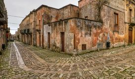 A Medieval Pano of Erice royalty free stock photography