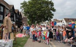Medieval parade, Canterbury Kent. Stock Photography
