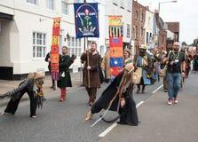 Medieval parade, Canterbury Kent. Stock Photos