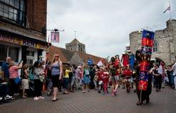 Medieval parade, Canterbury Kent. Royalty Free Stock Images