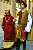 Medieval parade in Italy royalty free stock image