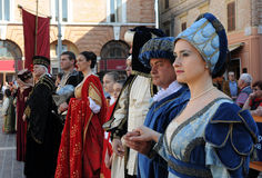 Medieval parade. In jesi, italy, at palio of san floriano held in may Stock Photos
