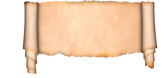 Medieval parchment. Stock Photo
