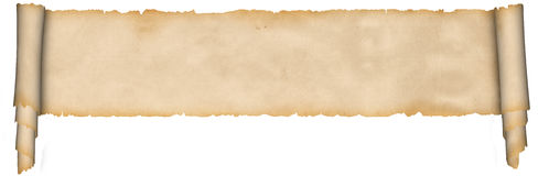 Medieval parchment. Royalty Free Stock Images