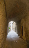 Medieval passage royalty free stock photos