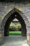 Medieval Passage. Stone arch passage on a medieval building royalty free stock photos