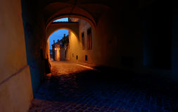 Medieval passage in Sibiu city Royalty Free Stock Image