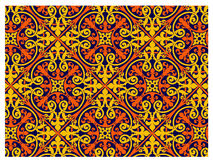 Medieval Pattern. Medieval Design with isometric patterns in a seamless sequence stock illustration