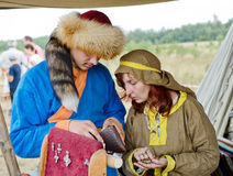 Medieval people Royalty Free Stock Images