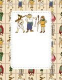 Medieval people card Stock Images