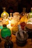 Medieval pharmacy Stock Photos